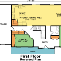 Chesterfield 1st Floor House Plan – Reversed