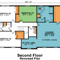 Chesterfield 2nd Floor House Plan – Reversed