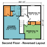 Deerfield 2nd Floor – Reversed Layout