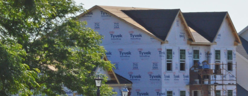 Tyvek HomeWrap on a new Fine Line Home